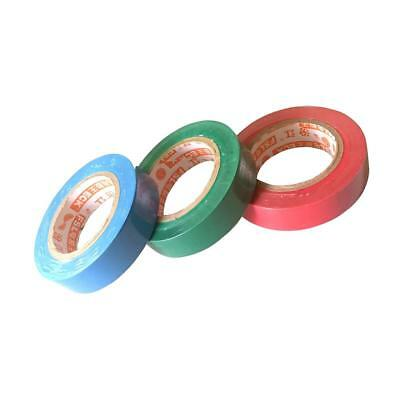3Pcs PVC Insulation Tape Red Green Blue Flame Retardant Electrical Tape 15M