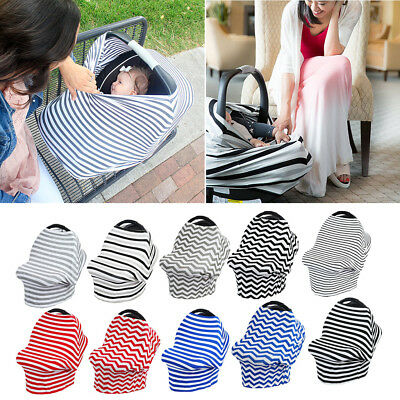 Multi-Use Stretchy Infant Newborn Nursing Cover Baby Car Seat Cart Canopy