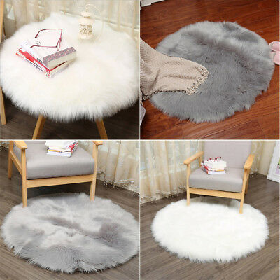 Europe Style Soft Sheepskin Rug Chair Cover Artificial Wool Hairy Carpet Seat