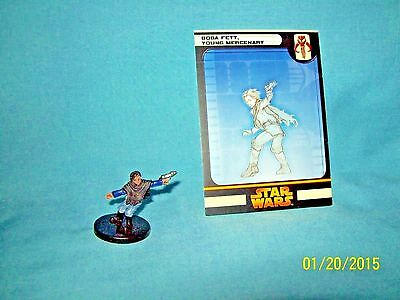 WotC Star Wars Miniatures Boba Fett, Young Mercenary, RotS 42/60, Fringe, Rare