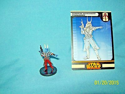 WotC Star Wars Miniatures Chagrian Mercenary Commander, RotS 43/60, Fringe, Unc