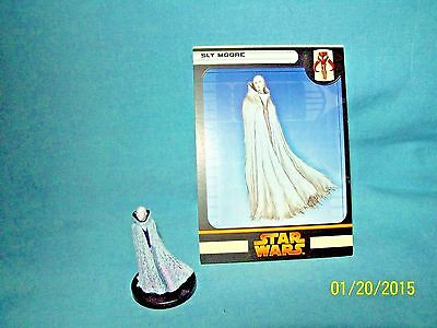 WotC Star Wars Miniatures Sly Moore, RotS 50/60, Fringe, Rare