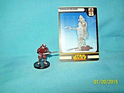WotC Star Wars Miniatures Utapaun Soldier, RotS 52/60, Fringe, Common