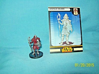 WotC Star Wars Miniatures Utapaun Soldier, RotS 53/60, Fringe, Common