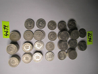 147 x  coins from SINGAPORE      401    gms      Mar4679