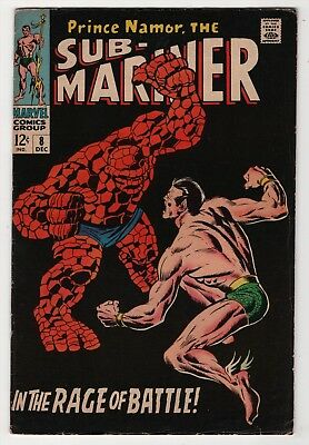 Sub-Mariner #8 nice Thing battles Namor cover story 1968 Marvel create-a-lot