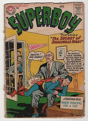 Superboy #55 Smallville 1957 DC Mickey Mantle create-a-lot & save