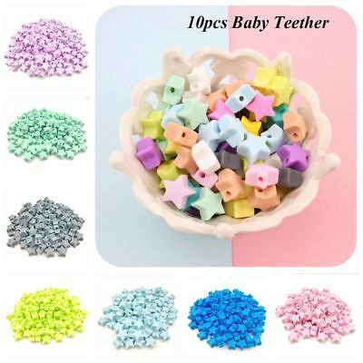 10pcs/lot 14mm Mom DIY Necklace Baby Teether Chew Beads BPA-Free Silicone