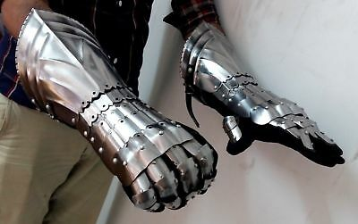 Halloween Medieval Warrior Metal Gothic Knight Style Gauntlets Functional Armor