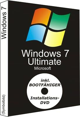Windows 7 Ultimate, 32/64 Bit (Key + DVD)