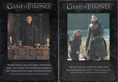 Game of Thrones Season 7 Quotables Set (9 Cards)