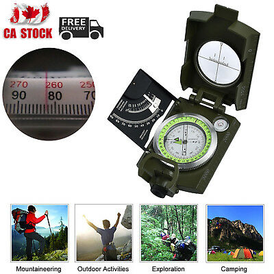 Military Army Metal Compass Professional Clinometer Outdoor Camping Hiking CA