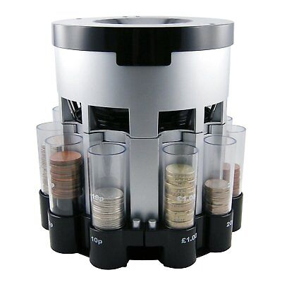 Automatic Coin Sorter - Electronic Money Cash Counting Machine UK Tube Change