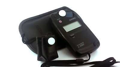 SEKONIC FLASHMATE L-308S Light Meter + LUMIDISC/Pouch, Case & Lanyard. 'MINT-'.