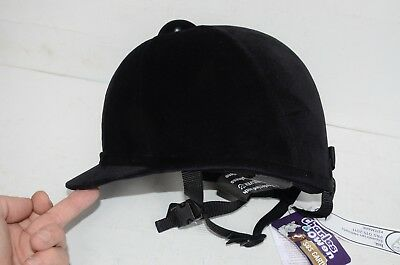 Charles Owen Young Riders Horse Riding Hat Black sizes 58 to 63 cm 71/8 to 73/4""