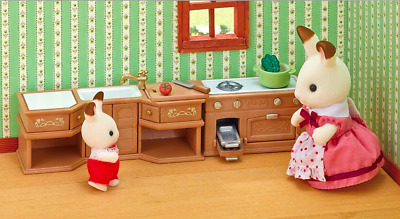 Sylvanian Families kitchen stove sink & counter (t1)