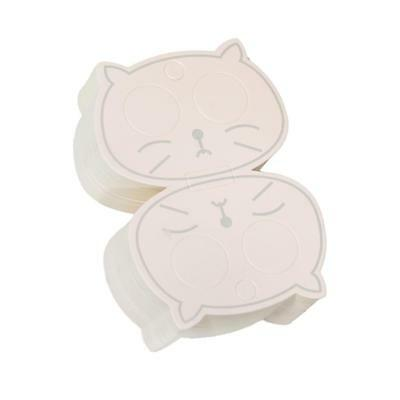50x Hollow Cat Jewelry Packaging Card Paper Hair Clip Card Hair Accessories