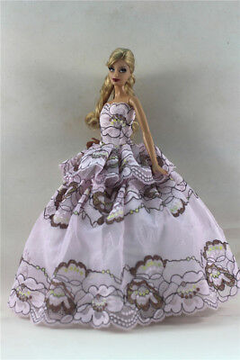 Fashion Princess Party Dress/Evening Clothes/Gown For Barbie Doll S349
