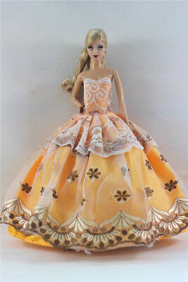 Yellow Fashion Princess Party Dress/Evening Clothes/Gown For 11.5in.Doll S350
