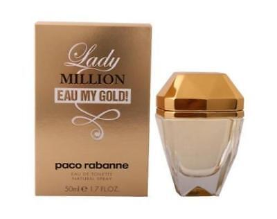 Lady Million Eau My Gold! von Paco Rabanne Eau de Toilette Sprays 50ml für Damen