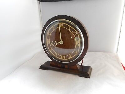 VINTAGE SMITH'S ELECTRIC MANTEL CLOCK-20cms high,20cms wide,face 14cms diameter