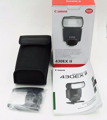 Canon 430EX II Box, Pouch, Manual, Cold Shoe