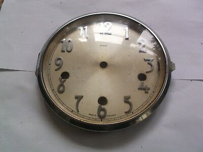 GLASS / RIM/FACE  FROM AN OLD ENFIELD  MANTLE CLOCK  OUTER 6 1/4 inch diam