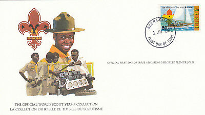 (14014) Ghana FDC Card Scouts Accra 1 June 1982