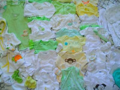 ADORABLE Baby Boy Girl Gender Neutral Newborn 0 3 Mo Clothes TWINS Sleepers Body