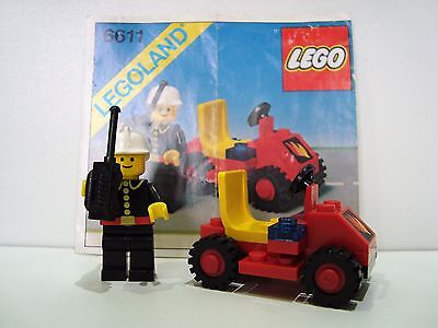 Lego Classic 6611 Town Fire Chiefs Car 100 Instructions Vgc