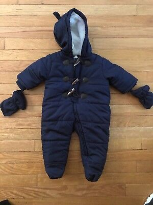The Children's Place Boys' Blue Snowsuit, Tidal, 0-3 Months