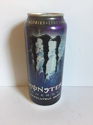 Monster Energy Drink Absolutely Zero 16oz Can Old Discontinued Design.