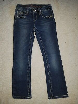 Justice Girls Jeans Size 7 Regular (7R) Distressed Skinny Boot Simply Low 22x22
