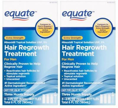 Equate Extra Strength Minoxidil Hair Regrowth Treatment for Men, 2 Oz, 3...