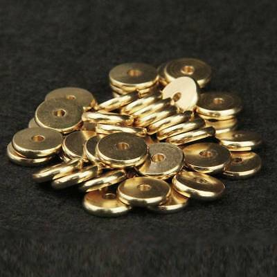 Wholesale 4/5/6/7/8/10mm Round Gold Plated Brass Loose Metal Spacer Beads
