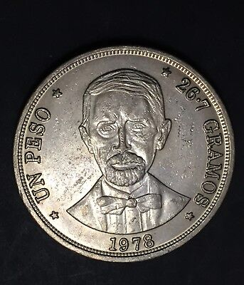 Dominican Republic Peso 1978 CuNi Only 35k Minted BU Coin
