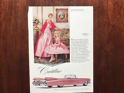 E Pink Cadillac Car Ads Lot of 9
