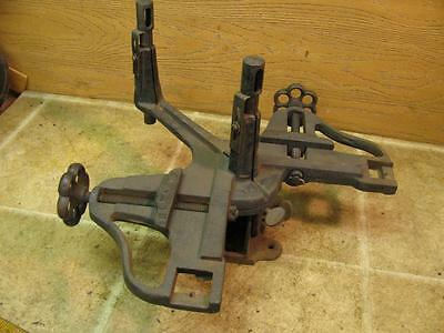 VINTAGE HC MARSH Rockford Ill Cast Iron Miter Saw Vise Guide Picture ...