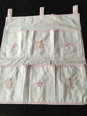 **NEW** Girls Fairy Pink & White Cot Tidy By POWELL CRAFT *FREE UK P&P* REDUCED