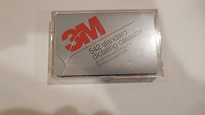 3M 542 Standard Dictating Cassette 60 Minutes Recording Time