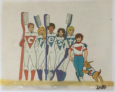 HERB TRIMPE 1970's Crest vs. Cavity Creeps Cel and Drawings - Crest Team Shot!
