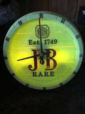 Vintage J & B Rare Whisky Clock Sign