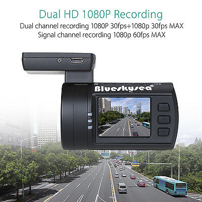 Dual HD 1080P 30fps 1.5'' Vehicle Camera Recorder Car DVR Dash Cam Night Vision