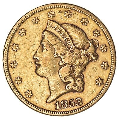 1853 $20.00 Liberty Head Gold Double Eagle - Circulated *6913