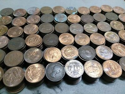 Lot Of 20 Different British Vintage Half Penny Coins - 1902-1967 - UK 1/2d