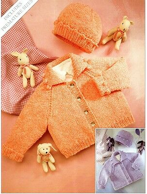 Premmie Size to 2 Years Baby Knitting Pattern copy in 8 Ply cardigan