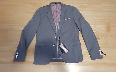 Zara Man Men's Suit Jacket Top Size 52 Grey Summer 2017 Collection