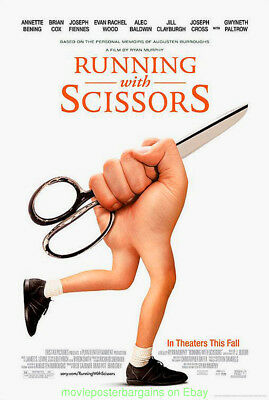 RUNNING WITH SCISSORS MOVIE POSTER DS 27x40 GWENETH PALTROW