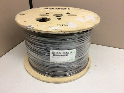 1000ft Spool Belden 9066 010 Black CATV Coaxial Coax Burial Cable 18 AWG