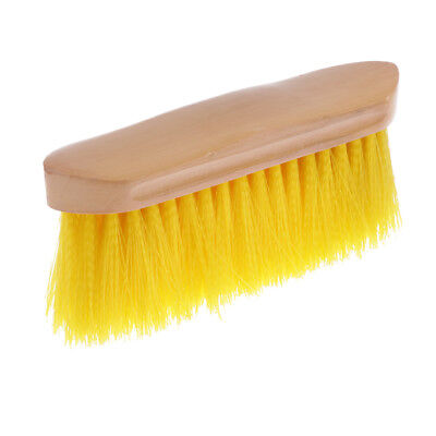 Horse Brush for Horse Grooming with Wood Grip Horse Farming Supplies Yellow